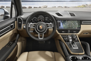 The new Porsche Cayenne, dashboard.