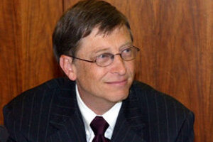 Bill Gates during his 2004 visit to Slovakia.