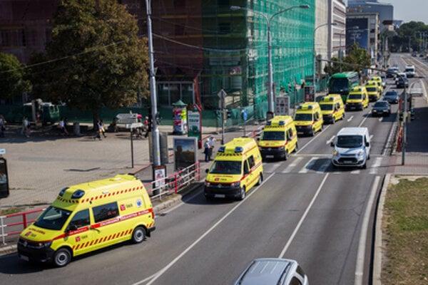 Slovak ambulances, illustrative stock photo