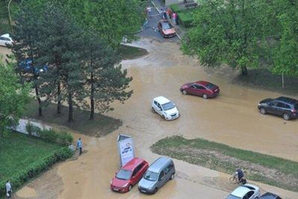 Rainstorm in Prešov
