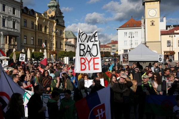 Anto-fascist march in Banská Bystrica.