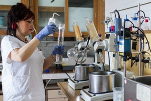 Testing the food quality at State Veterinary and Food Administration, illustrative stock photo