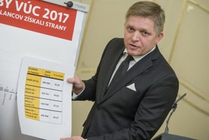 PM Fico explians the results of the regional elections for his Smer party.