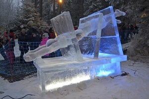 Ice sculptures at Hrebienok
