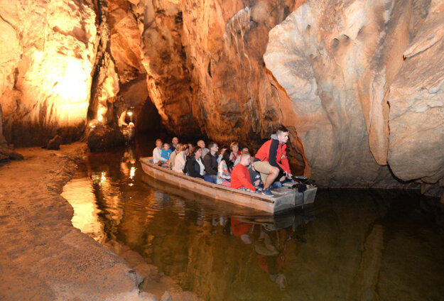 Inside the Domica Cave