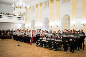 Olympic and Paralympic athletes take oath at President Andrej Kiska, January 30, 2018.
