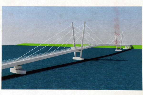 The project for the bridge as introduced in 2015.