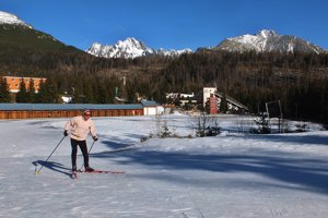 Cross-country skiing at Štrbské Pleso