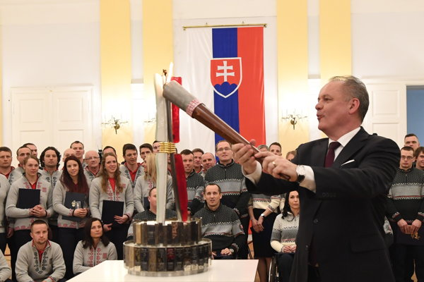 President Andrej Kiska and the Slovak representation for the 2018 Winter Paralympics in PyeongChang.
