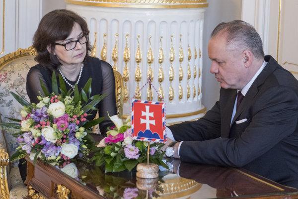 Lucia Žitňanská met with President Andrej Kiska.