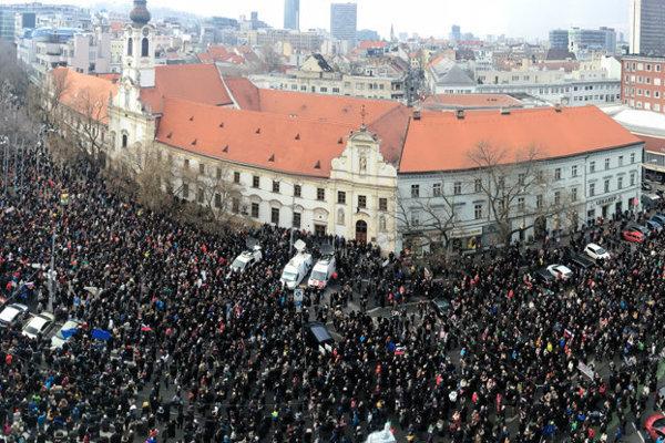 SNP Square in Bratislava, March 23