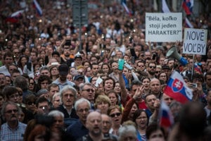 The April 15, 2018 protest For Decent Slovakia in Bratislava.