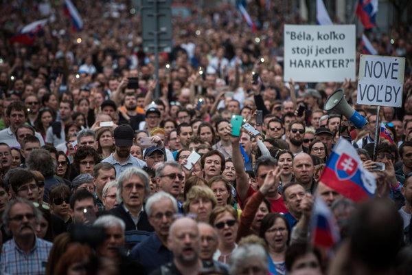 The April 15, 2018 protest For Decent Slovakia in Bratislava.