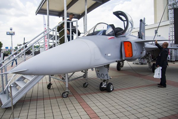 The Gripen plane is exhibited at the IDEB fair in Bratislava (May 16-18).