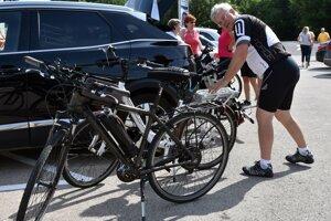 Cycling depot in Veľaty