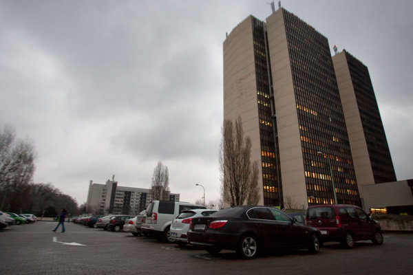 The Technopol building in Petržalka, Bratislava.