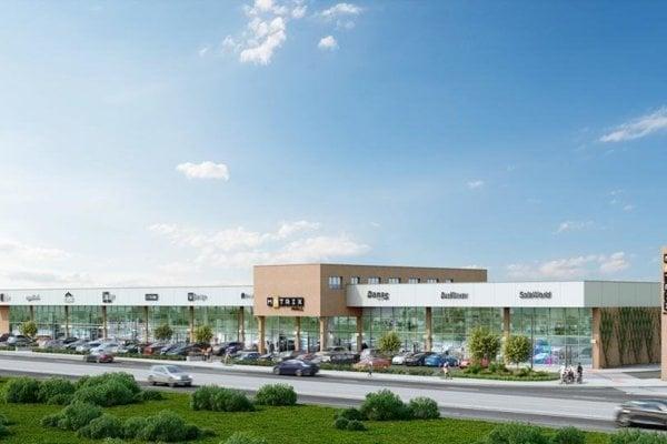 Visualisation of Matrix Mall in Bratislava's Nové Mesto