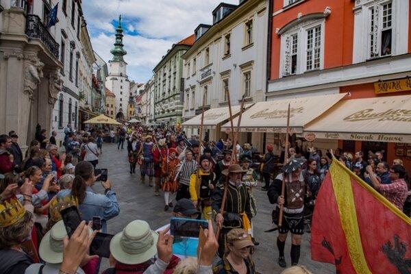 The re-enactment of the coronation procession of Maximilian II, June 24, 2018, Bratislava