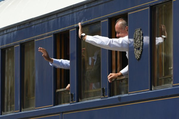 The Czech and Slovak presidents rode on a vintage train to mark the centenary of Czechoslovakia on July 29.