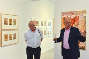 Artist Dušan Kállay (L) and gallerist Vincent Polakovič