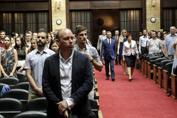 From the opening of the 54th year of Studia Academica Slovaca, August 6, 2018.