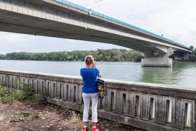 The Danube rive rin Bratislava, end of July 2018.