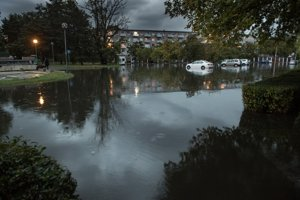 Torrential rain caused floods in Bratislava in September.