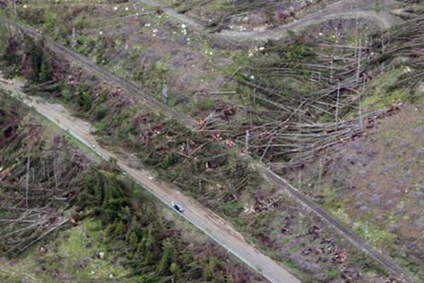 Previous gales have already damaged the forests in the High Tatras.