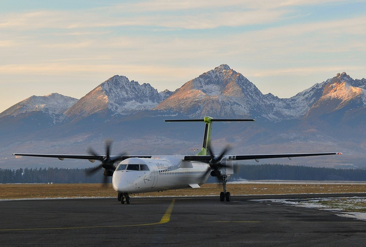 The airport in Poprad is situated just under the High Tatra mountains. c536a045da6