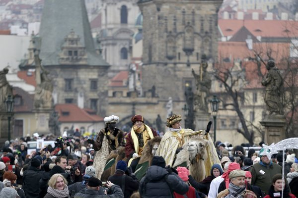 The Three Kings march in Prague in 2016