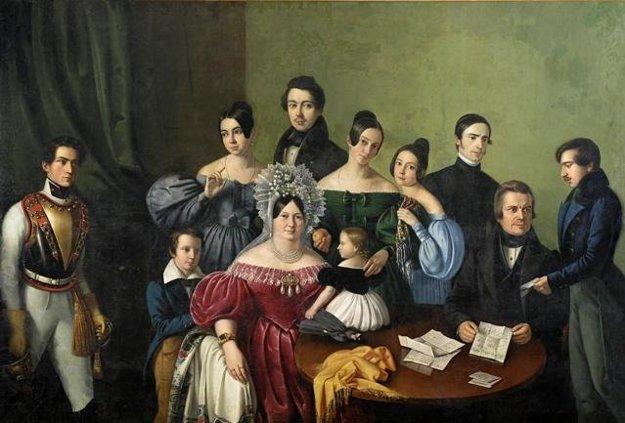 Giacomo Antonio Marastoni: Framily of Pressburg/Prešporok/Bratislava merchant Filip Scherz. 1835, owned by GMB