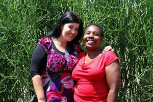 Danica Olexová (left) helped people in Africa all her life.