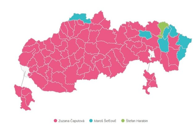 Who won in Slovakia's districts?