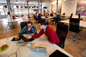 Shared office space can save costs.