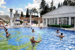 The architecture of the spa in Rajecké Teplice took its inspiration from ancient Greece.