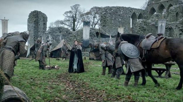 Catelyn and Robb Stark first hear of Eddard's death