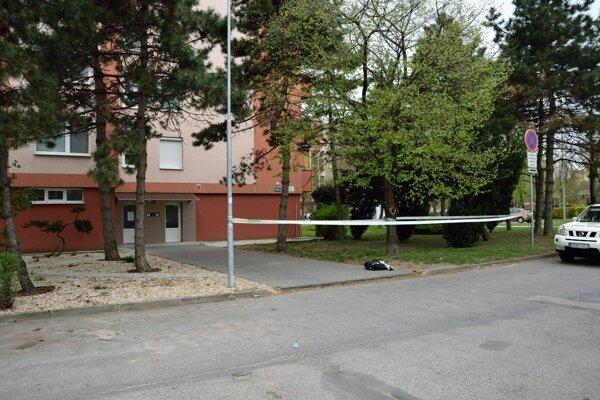 The crime scene in Nové Zámky