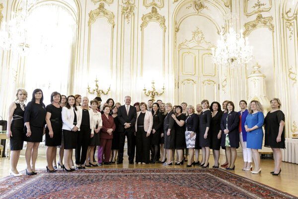 President Andrej Kiska met with the White Heart laureates on May 21.