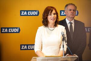 Veronika Remišová joins Za Ľudí, the party of ex-president Andrej Kiska.