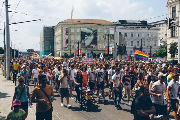 Rainbow PRIDE takes place in Bratislava on July 20, 2019.