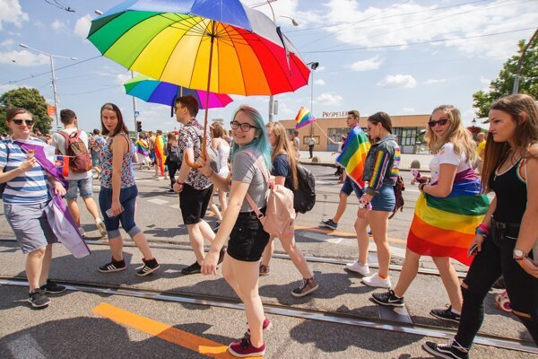 The Rainbow Pride event takes place in Bratislava on July 20.