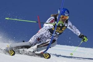 Veronika Velez-Zuzulová racing in St Moritz.