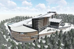 A visualition of an indoor ski area in Donovaly