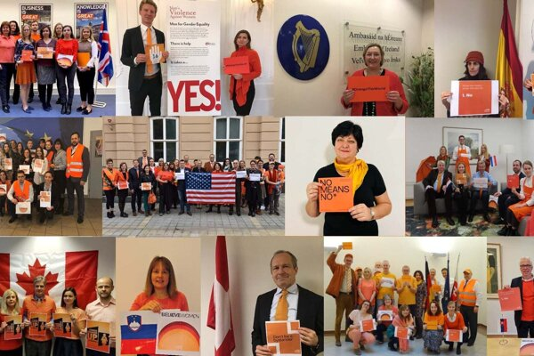 The United Nations launched its Orange the World: Generation Equality Stands against Rape! campaign on November 25, 2019. Embassies in Slovakia, the European Commission representationa and Ombudswoman Mária Patakyová also showed their support
