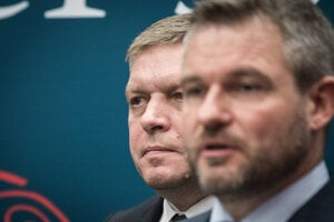 Robert Fico and Peter Pellegrini, the two faces of Smer.