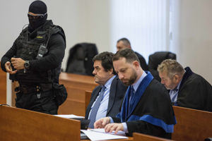Marian Kočner attends day 7 of a trial regarding the murder of journalist Ján Kuciak and his fiancée Martina Kušnírová on February 3, 2020, in Pezinok.