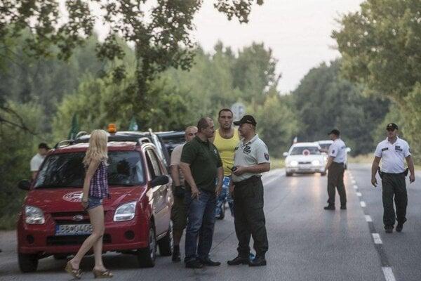 Banská Bystrica region governor Marian Kotleba stopped by police on his way to the village of Gabčíkovo