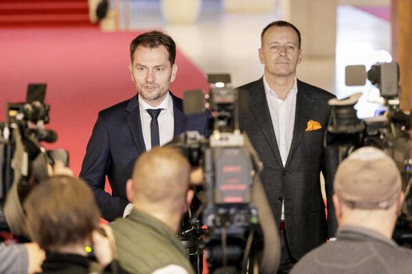 Igor Matovič and Boris Kollár.
