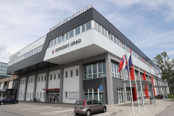A contact centre falling under the Interior Ministry in Bratislava.