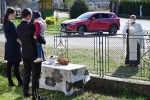 The consecration of food in Sobrance (Košice Region).